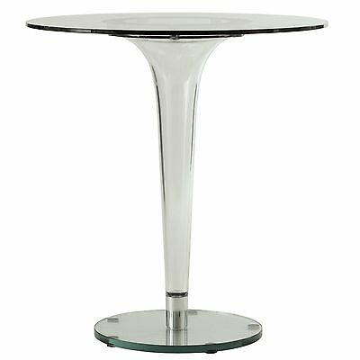 $299 • Buy LeisureMod Lonia Modern Bistro Glass Top Dining Table With Clear Acrylic Base