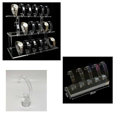 £22.99 • Buy Clear Acrylic Watch Display Stand For Retail Display & Jewelry Organizer