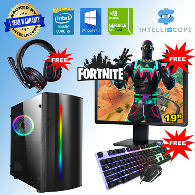 Fast Gaming PC Computer Bundle Intel Quad Core I5 16GB 1TB Windows 10 2GB GT710 • 259.99£