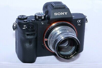 AU574.79 • Buy Zeiss Contax RF Sonnar 50mm F1.5 Lens With Contax To Sony E Mount Adapter. A7RII