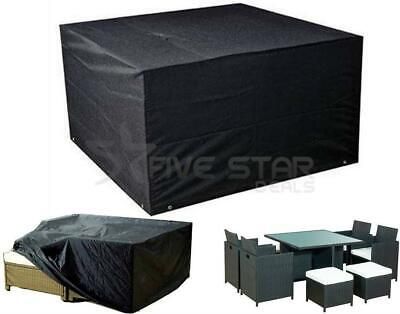 Outdoor Garden Furniture Covers Waterproof Rectangle Rattan Cube Cover Patio Set • 14.94£