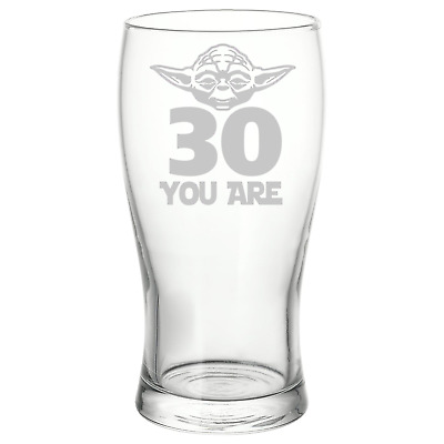 Personalised Star Wars Style Yoda Birthday Beer Pint Glass • 8.50£