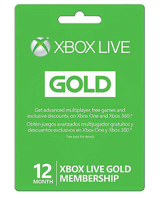 View Details Microsoft Xbox LIVE 12 Month Gold Membership For Xbox 360 / XBOX ONE • 49.99$