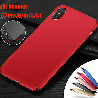 AU14.99 • Buy Matte PC Hard Full Shockproof Slim Back Case Cover For Oneplus 7/7 Pro/5/5T/6/6T