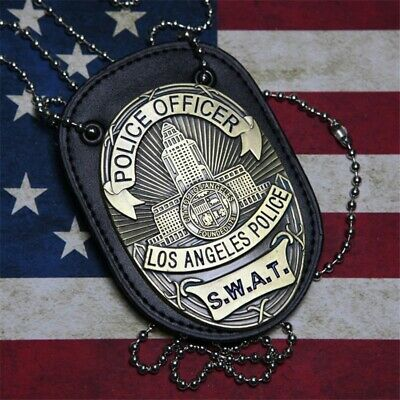 £22.32 • Buy LA Police SWAT Officer Badges Card ID Cards Holder 1:1 Gift Cosplay Collectionn