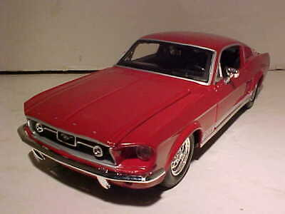 $11.66 • Buy 1967 Ford Mustang Fastback Die-cast Car 1:24 Maisto 8 Inches Red NO BOX