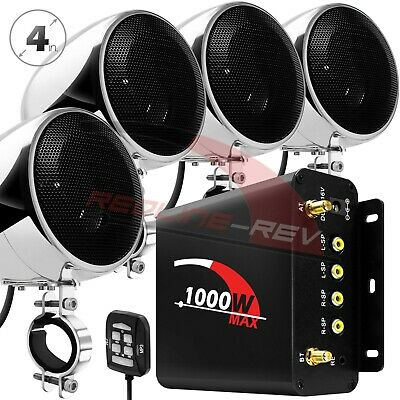 $149.97 • Buy 1000W AMP Waterproof Bluetooth Motorcycle Audio Stereo Speakers MP3 System Radio