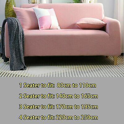 AU34.72 • Buy Super Stretch Pink Sofa Couch Cover Lounge Seat Slipcover 1 2 3 4 Seat Decora