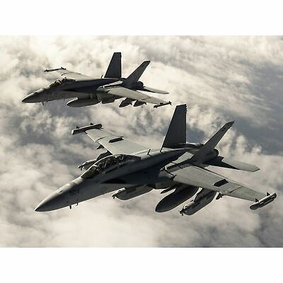 $22.94 • Buy Hook Military USA USAF F-18 Hornet Jet Fighters Photo Wall Art Canvas Print