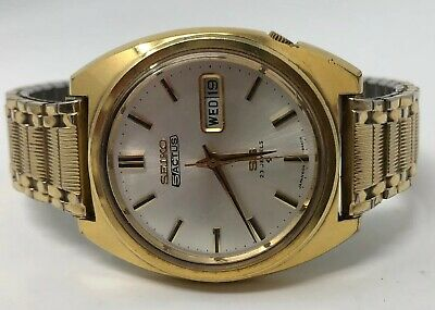 $ CDN200.01 • Buy Rare Vintage Seiko 5 Actus Automatic 23 Jewels Gold Filled Watch RUNS