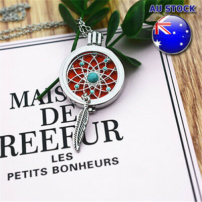 AU9.89 • Buy Perfume Fragrance Diffuser Essential Oil Aromatherapy Locket Pendant Necklace