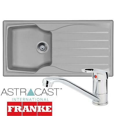 £110.99 • Buy Astracast Sierra 1 Bowl Light Grey Composite Kitchen Sink And Chrome Mixer Tap