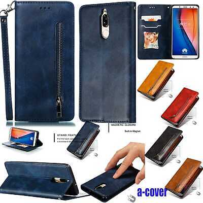 AU19.99 • Buy Zipper Magnetic Leather Wallet Case For Huawei Psmart Y7/9 P30/Mate20 Pro/Lite