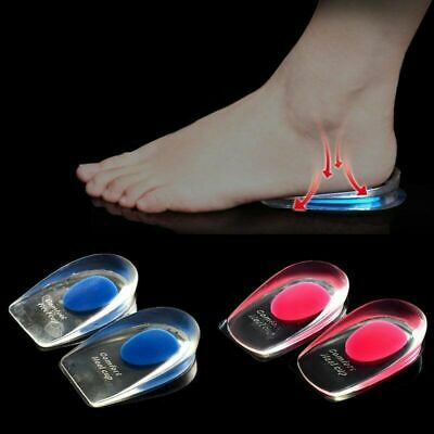 Fast Foot Pain Relief Plantar Fasciitis Gel Heel Support Cushion Insoles Pad Cup • 2.89£