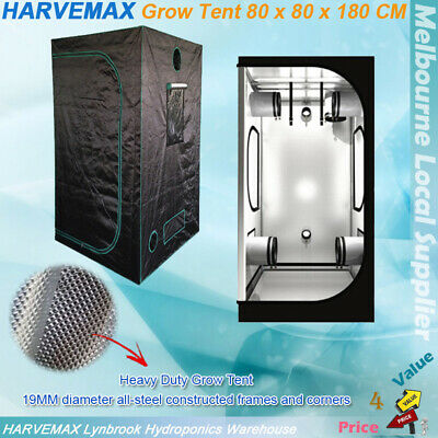 AU135 • Buy HARVEMAX Grow Tent 80x80x180CM Hydroponics Mylar Grow Room For Grow Light HPS MH