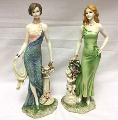 "VINTAGE The Regal Collection Elegant Lady Figurine MELISSA & SAMANTHA 25cm/10"" • 55£"