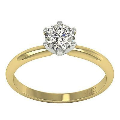 AU1655.75 • Buy Natural Diamond Solitaire Ring I1 H 1.10 Ct 6 Prong Set 14K Solid Gold 6.50 MM