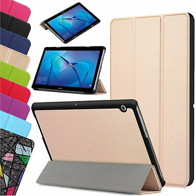 For Huawei MediaPad T3 7.0  8  10  Leather Thin Smart Stand Case Cover Tablet UK • 7.98£