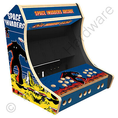 £179 • Buy BitCade 2 Player 19  Bartop Arcade Cabinet Machine With Space Invaders Artwork