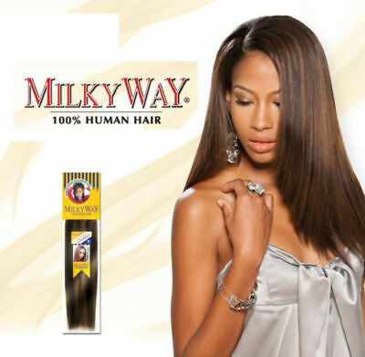 $29.99 • Buy MilkyWay 100% Human Hair Yaky Weave Straight Extension 12  14  16  18
