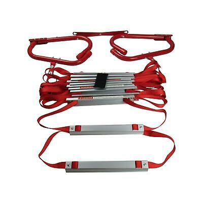 Emergency Fire Escape Ladder 2 Storey (Window Home Portable Roll Out Exit 4.3M) • 37.99£