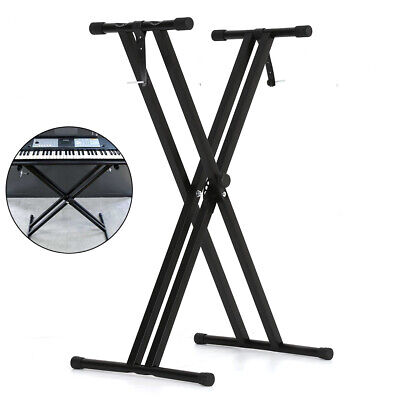 X-Frame Keyboard Double Stands Beam Single Beam Music Electronic Keyboard Stand • 12.25£