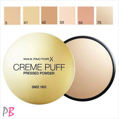 Max Factor Creme Puff Pressed Face Powder Compact 21g - Various Shades • 4.99£