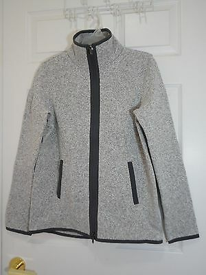 $ CDN99 • Buy NWT Lululemon Its Fleecing Cold Jacket Heathered White Dark Carbon 10 8 6 4