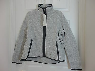 $ CDN99 • Buy NWT Lululemon Its Fleecing Cold Zip Up Jacket Heathered White Carbon 12 10 8 6
