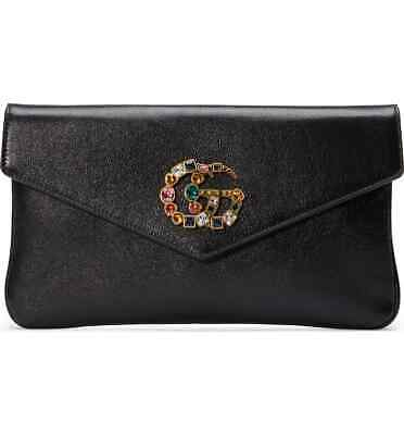 29dc37820 ... 100 authentic new gucci black broadway crystal gg shoulder envelope  clutch bag 895 00 ...