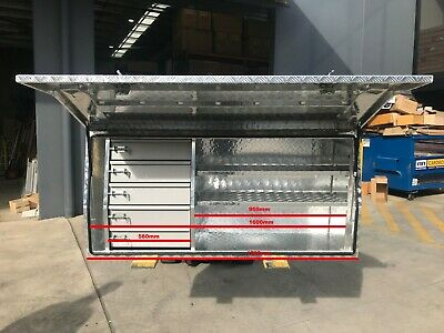 AU899 • Buy Toolbox Tool Box Built In Drawers Drawer Ute Truck Trailer Box 1700mm Aluminium