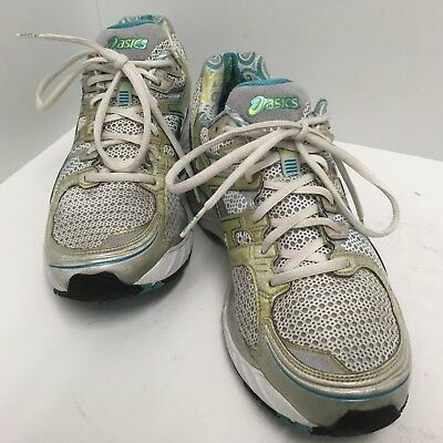 $49.99 • Buy Asics Gel Kayano 17 Running Shoes Womens Size 10m White Silver Blue Teal T150n