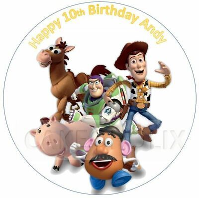 £3.70 • Buy Toy Story Edible Cake Topper With Any Personalised Message Woody Buzz Lightyear