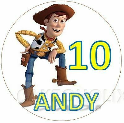 £3.70 • Buy Toy Story With Woody Edible Cake Topper With Any Personalised Message