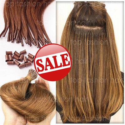 $29.40 • Buy 300S Pre Bonded Fusion Keratin I Tip Hair 100% Remy Human Hair Extensions P424
