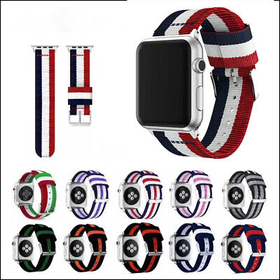 $ CDN10.12 • Buy For Apple Watch Series 1/2/3/4 Nylon Woven Band Strap Sports Watch Wrist Bands