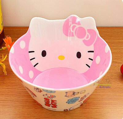 £12.98 • Buy New Cute Hello Kitty Food Fruit Rice Soup Bowl Kitchen Die-Cut Melamine Bowl