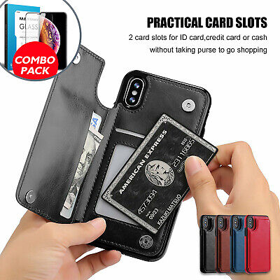 AU12.99 • Buy IPhone X XS Max XR IPhone 8 Plus IPhone 7 Plus Wallet Card Holder Case Cover