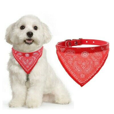 Small Dog Puppy Cat Bandana Collar- Adjustable Pet Neckerchief- 7 Colour Choice • 2.10£