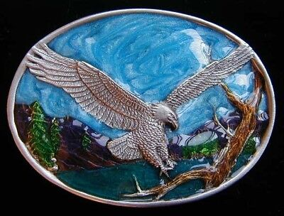 $12.95 • Buy Small Size Soaring Eagle Belt Buckle Childrens Nice Colors New!