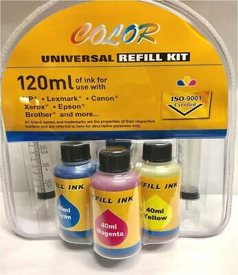 AU17.80 • Buy Refill Ink Kit For Canon PG645XL BK CL646XL Color, For TS3166, TS3165, TR4560
