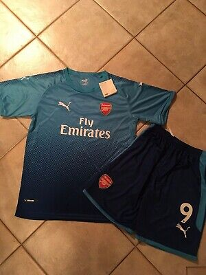 6f251745 Arsenal 2017/18 Away Kit Puma Jersey And Shorts : #9 Lacazette Mens Small