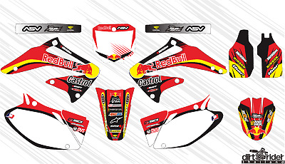 $66 • Buy 5058 Honda Crf 450 R 2002 2003 2004 Decals Stickers Graphics Kit