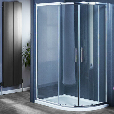 £252.99 • Buy Offset Quadrant Shower Enclosure Corner Cubicle And Tray 800 900 1000 1200mm