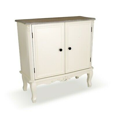 AU408.03 • Buy Antique White Ornate Brown Unit Storage Furniture Cupboard Cabinet Sideboard