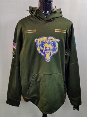 new product 91ca5 6acaa chicago bears hoodie mens xl