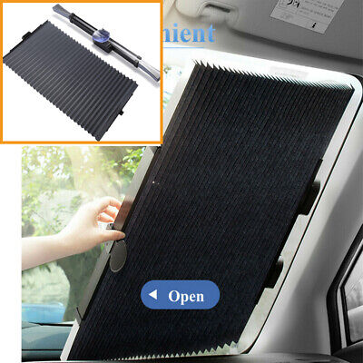 $13.59 • Buy Car Retractable Curtain UV Protection Front Windshield Sun Visor Accessories