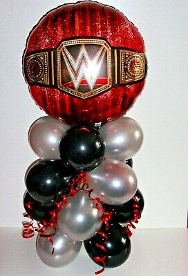 Foil Balloon Table Display  World Heavy Weight Wrestling Wwe  No  Air Fill  B&s • 5.95£