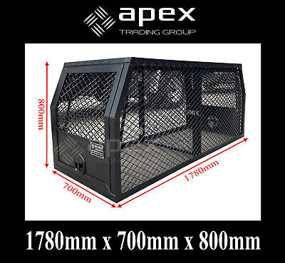 AU1200 • Buy Brand New Black Aluminium Ute Truck Dog Cage Box - Hunting 4x4 Dogcage 15004cpbl