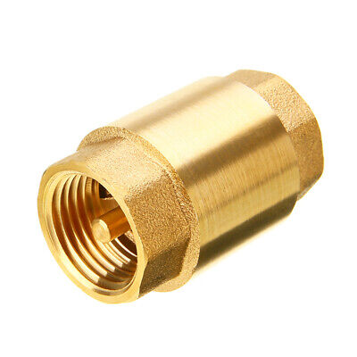 $9.10 • Buy 1  Inch NPT Pipe Threaded Brass In-Line Spring Check Valve Inline One Way Copper